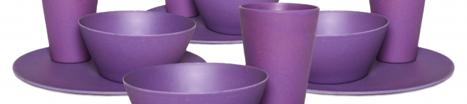 Purple Family Dinner Set