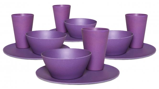 Purple Family Dinner Set
