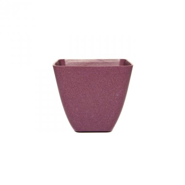 green tones small square plant pot aubergine purple garden planter ebay. Black Bedroom Furniture Sets. Home Design Ideas