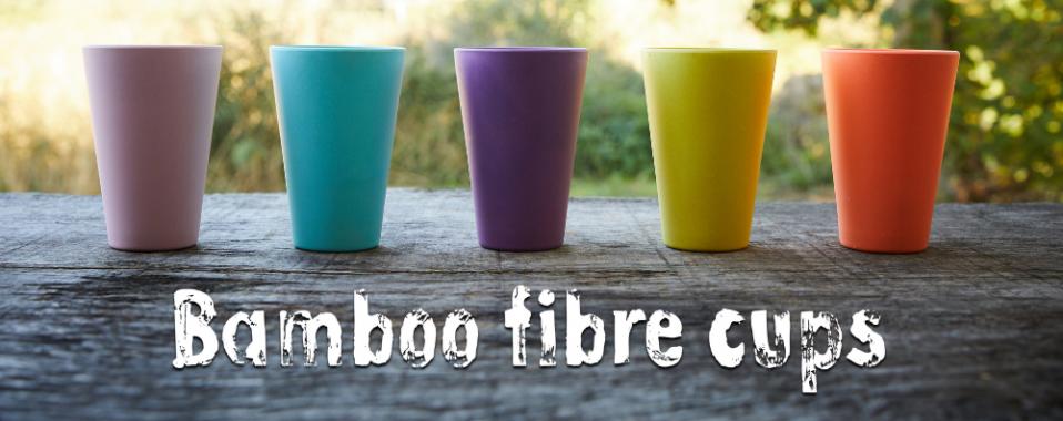 Bamboo fibre cups