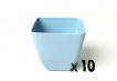10 x Small Square Planter - Light Blue