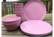 Dining Set for Four - Light Pink