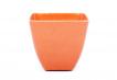 Small Square Planter - Bright Orange