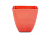 Small Square Planter - Red