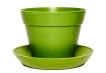 Classic Plant Pot with Saucer - Green