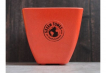 Small Square Planter - Bright Orange