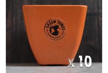 10 x Small Square Planter - Pumpkin Orange