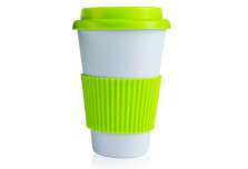 Sky Blue Cup with Light Green Silicone