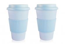 Set of 2 Sky Blue Coffee Cup