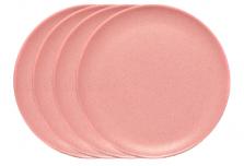 Large Plate x 4 - Light Pink