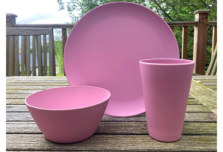 Dining Set for Two - Light Pink