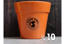 10 x Small Classic Planter - Pumpkin Orange