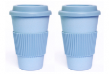 Set of 2 Sky Blue Coffee Cup