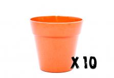 10 x Small Classic Planter - Bright Orange