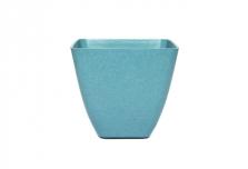 Small Square Planter / Pot Cover - Aqua Blue