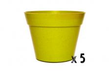 5 x Classic Plant Pot - Light Green