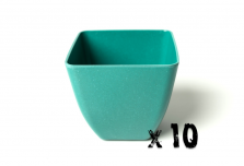 10 x Small Square Planter - Teal