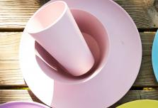 Individual Dining Set - Light Pink