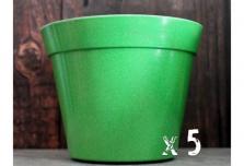 5 x Classic Plant Pot - Green