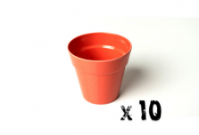 10 x Small Classic Planter - Bright Orange