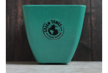 Small Square Planter - Teal