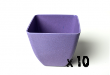 10 x Small Square Planter - Purple