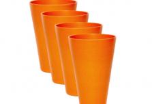 Round Cup x 4 - Orange