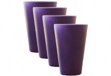 Round Cup x 4 - Purple