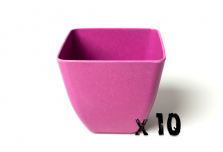 10 x Small Square Planter - Pink