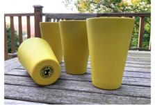 4 x Bright Yellow Cups / Beakers