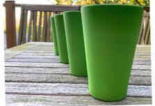 4 x Green Cups / Beakers
