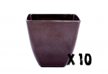 10 x Small Square Planter - Black