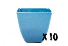 10 x Small Square Planter - Navy Blue
