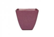 Small Square Planter / Pot Cover - Aubergine Purple