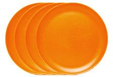 Large Plate x 4 - Orange