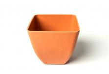 Small Square Planter - Pumpkin Orange