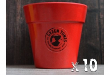 10 x Small Classic Planter - Red