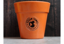 Small Classic Planter - Pumpkin Orange