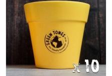 10 x Small Classic Planter - Yellow