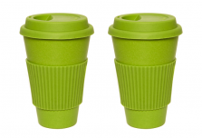 Set of 2 Green Coffee Cup