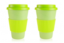 Set of 2 Light Green Coffee Cup