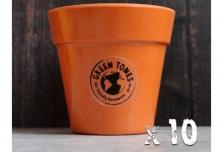10 x Small Classic Planter - Pumpkin Orange