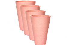 Round Cup x 4 - Light Pink