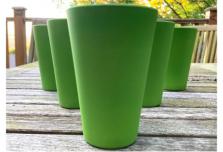 6 x Green Cups / Beakers