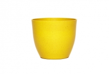 Mini Curved Planter / Pot Cover - Yellow