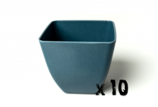 10 x Small Square Planter - Navy Blue