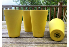 Round Cup x 4 - Yellow