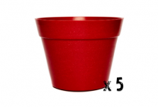 5 x Classic Plant Pot - Red