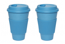 Set of 2 Blue Coffee Cup
