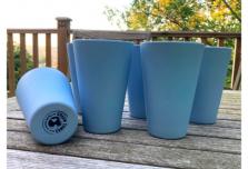 6 x Sky Blue Cups / Beakers